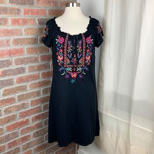 JWLA Johnny Was Floral Peasant Tunic Dress, S